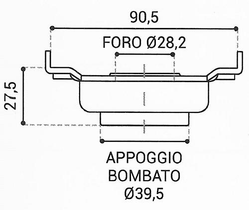 Cuscinetto Reggispinta 28,2x90,5x27,5 - TRT1137