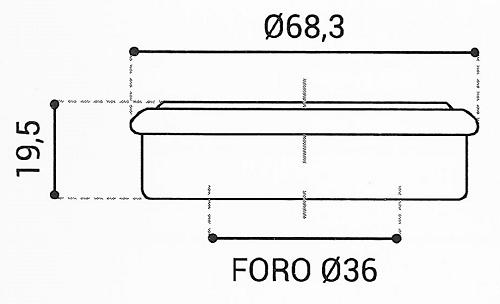 Cuscinetto Reggispinta 36x68,3x19,5 - TRT1138