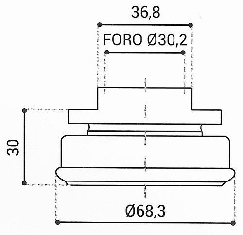Cuscinetto Reggispinta 30,2x68,3x30 - TRT1139