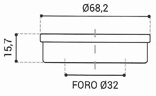 Cuscinetto Reggispinta 32x68,2x15,7 - TRT1140