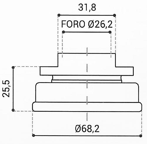 Cuscinetto Reggispinta 26,2x68,2x25,5 - TRT1141
