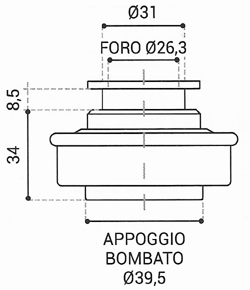 Cuscinetto Reggispinta 26,3x39,5x34 - TRT1144