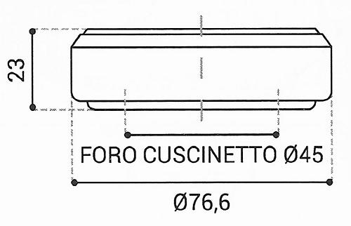 Cuscinetto Reggispinta 45x76,6x23 - TRT1220