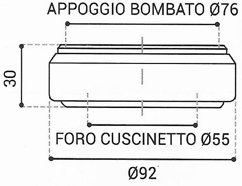 Cuscinetto Reggispinta 55x92x30 - TRT1306