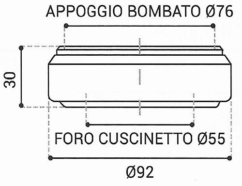 Cuscinetto Reggispinta 55x92x30 - TRT1312