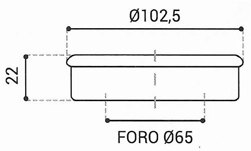 Cuscinetto Reggispinta 65x102,5x22 - TRT1317
