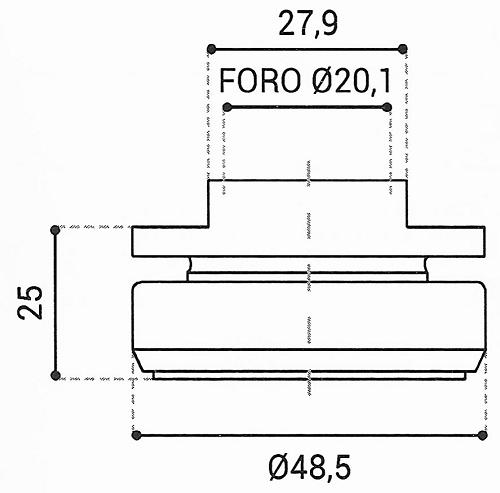 Cuscinetto Reggispinta 20,1x48,5x25 - TRT1405