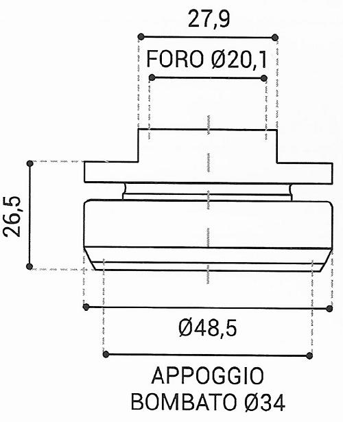 Cuscinetto Reggispinta 20,1x48,5x26,5 - TRT1406