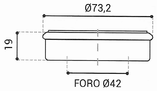 Cuscinetto Reggispinta 42x73,2x19 - TRT1409