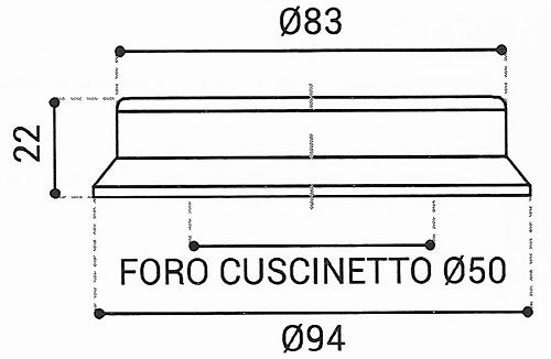 Cuscinetto Reggispinta 50x94x22 - TRT1411NH