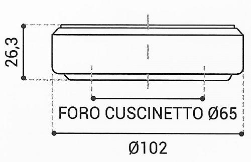 Cuscinetto Reggispinta 65x102x26,3 - TRT1414