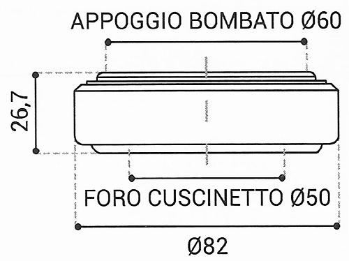 Cuscinetto Reggispinta 50x82x26,7 - TRT1415