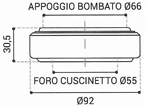 Cuscinetto Reggispinta 55x92x30,5 - TRT1416