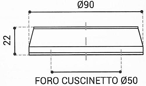 Cuscinetto Reggispinta 50x90x22 - TRT1417