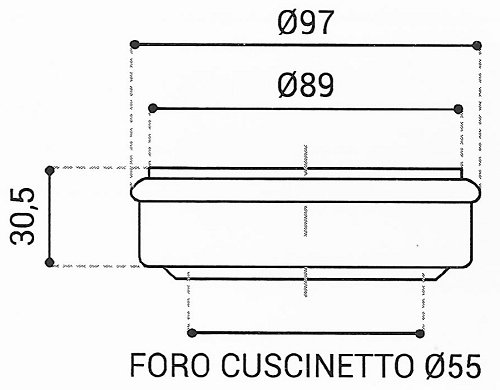 Cuscinetto Reggispinta 55x97x30,5 - TRT1418
