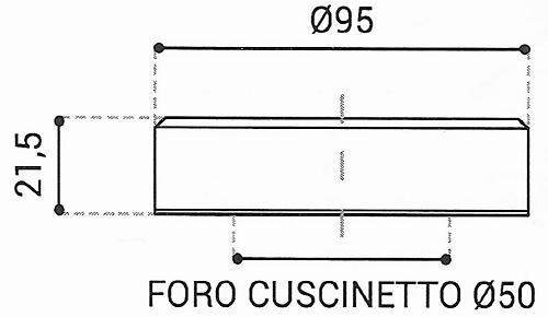 Cuscinetto Reggispinta 50x95x21,5 - TRT1419