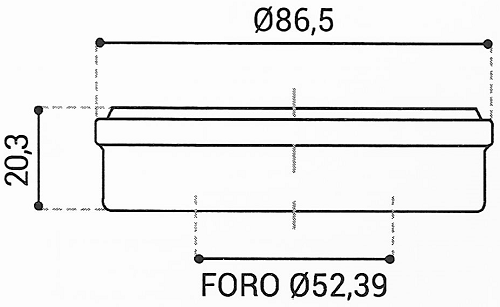 Cuscinetto Reggispinta 52,39x86,5x20,3 - TRT1420A
