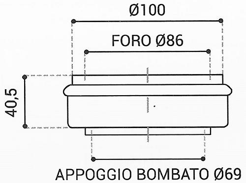 Cuscinetto Reggispinta 86x100x40,5 - TRT1421