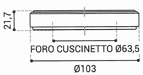 Cuscinetto Reggispinta 63,5x103x21,7 - TRT1422