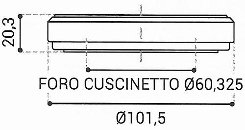 Cuscinetto Reggispinta 60,325x101,5x20,3 - TRT1423