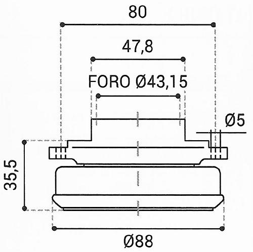 Cuscinetto Reggispinta 43,15x88x35,5 - TRT1428GB