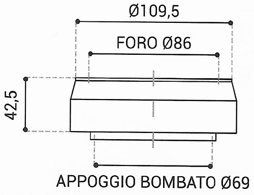 Cuscinetto Reggispinta 86x109,5x42,5 - TRT1429
