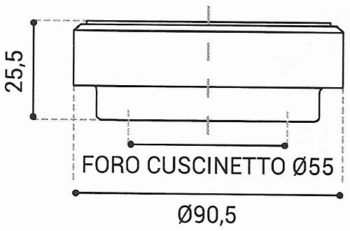 Cuscinetto Reggispinta 55x90,5x25,5 - TRT1430
