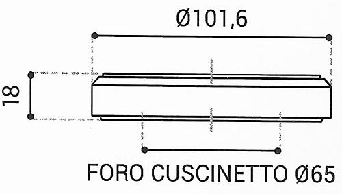 Cuscinetto Reggispinta 65x101,6x18 - TRT1431