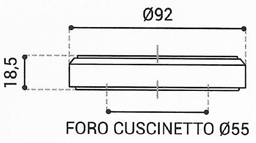 Cuscinetto Reggispinta 55x92x18,5 - TRT1433