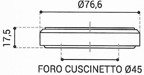 Cuscinetto Reggispinta 45x76,6x17,5 - TRT1434