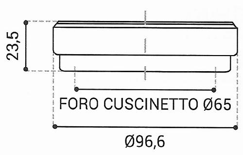 Cuscinetto Reggispinta 65x96,6x23,5 - TRT1435