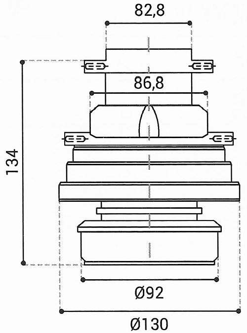 Cuscinetto Reggispinta 82,8x130x134 - TRT1439
