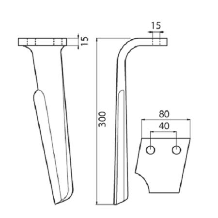 Coltello per erpice - Compatibile con RABEWERK - TRAT5155