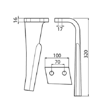 Coltello per erpice - Compatibile con RABEWERK - TRAT6979