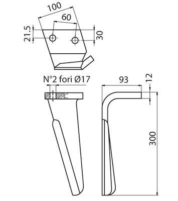 Coltello per erpice - Compatibile con ALPEGO - TRAT4535