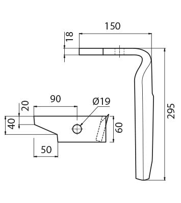 Coltello per erpice - Compatibile con AMAZONE - TRAT4570