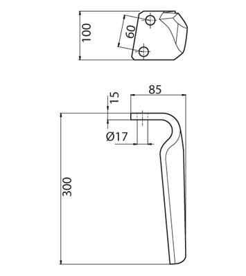 Coltello per erpice - Compatibile con BREVIGLIERI - TRAT4773
