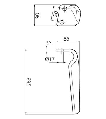 Coltello per erpice - Compatibile con BREVIGLIERI - TRAT4792