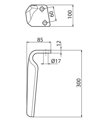 Coltello per erpice - Compatibile con BREVIGLIERI - TRAT5081