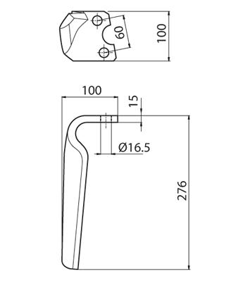 Coltello per erpice - Compatibile con KRONE - TRAT5090