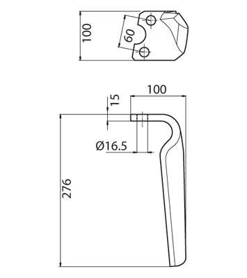 Coltello per erpice - Compatibile con KRONE - TRAT5091