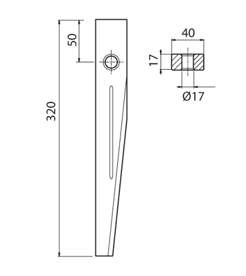 Coltello per erpice - Compatibile con KUHN - TRAT5117