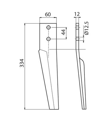 Coltello per erpice - Compatibile con FALC - TRAT5129
