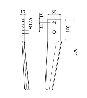 Coltello per erpice - Compatibile con MASCHIO - TRAT5130