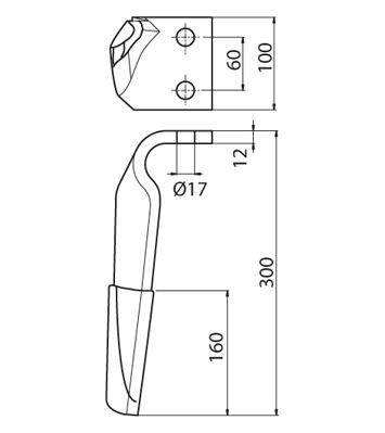Coltello per erpice - Compatibile con MASCHIO - TRAT5139