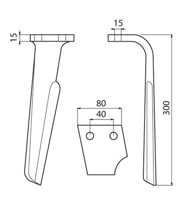 Coltello per erpice - Compatibile con RABEWERK - TRAT5153