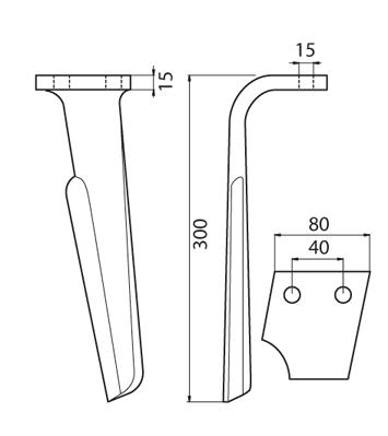 Coltello per erpice - Compatibile con RABEWERK - TRAT5154