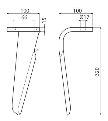 Coltello per erpice - Compatibile con AIO|EMY|ELENFER - TRAT5277