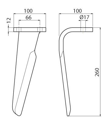 Coltello per erpice - Compatibile con EMY|ELENFER - TRAT5279