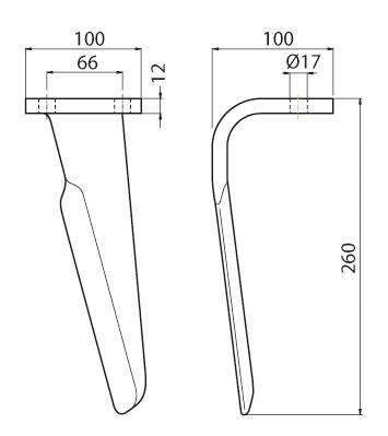 Coltello per erpice - Compatibile con EMY ELENFER - TRAT5280